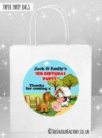 Kids Party Bags Farm Animal Friends x1