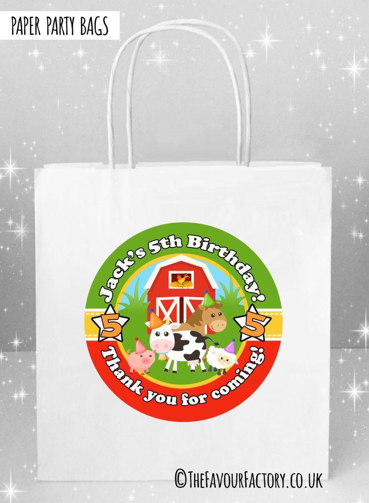 Kids Party Bags Farmyard Animals x1