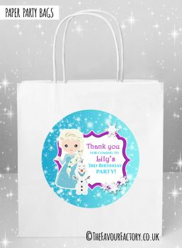 Kids Party Bags Frozen Snow Princess x1