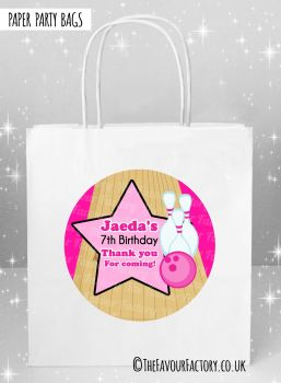 Kids Party Bags Girls Bowling x5