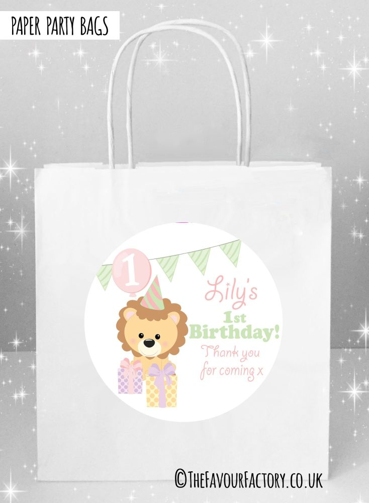 Kids Party Bags Girls Party Lion x1