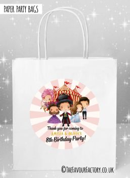 Kids Party Bags Greatest Showman x5