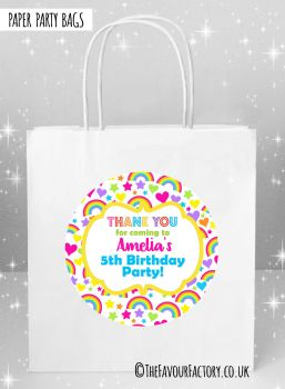 Kids Party Bags Hearts and Rainbows x5