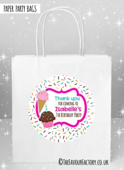 Kids Party Bags Ice Cream Sprinkles  x5