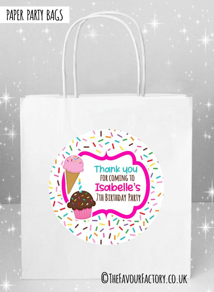 Kids Party Bags Ice Cream Sprinkles x1