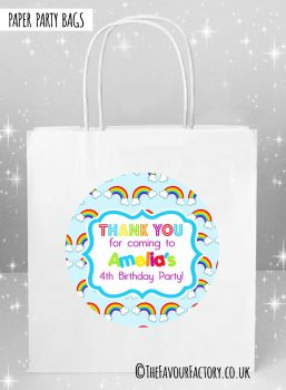 Kids Party Bags Lots of Rainbows x5