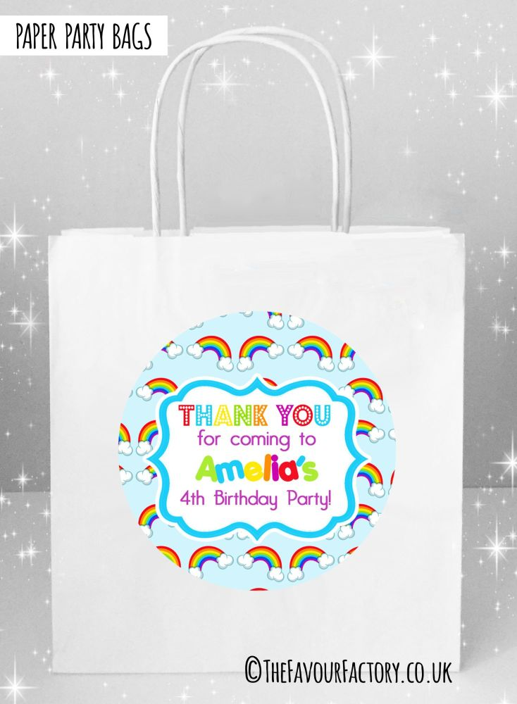 Kids Party Bags Lots of Rainbows x1