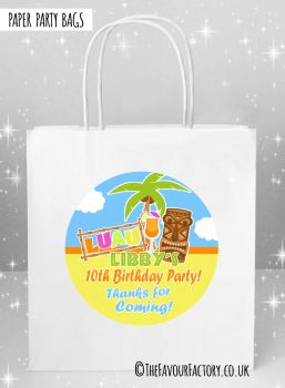 Kids Party Bags Tropical Luau x5