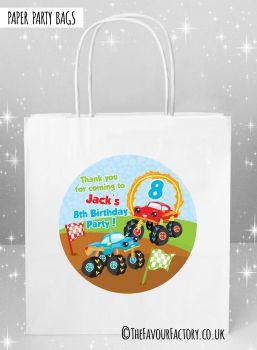 Kids Party Bags Monster Trucks x1