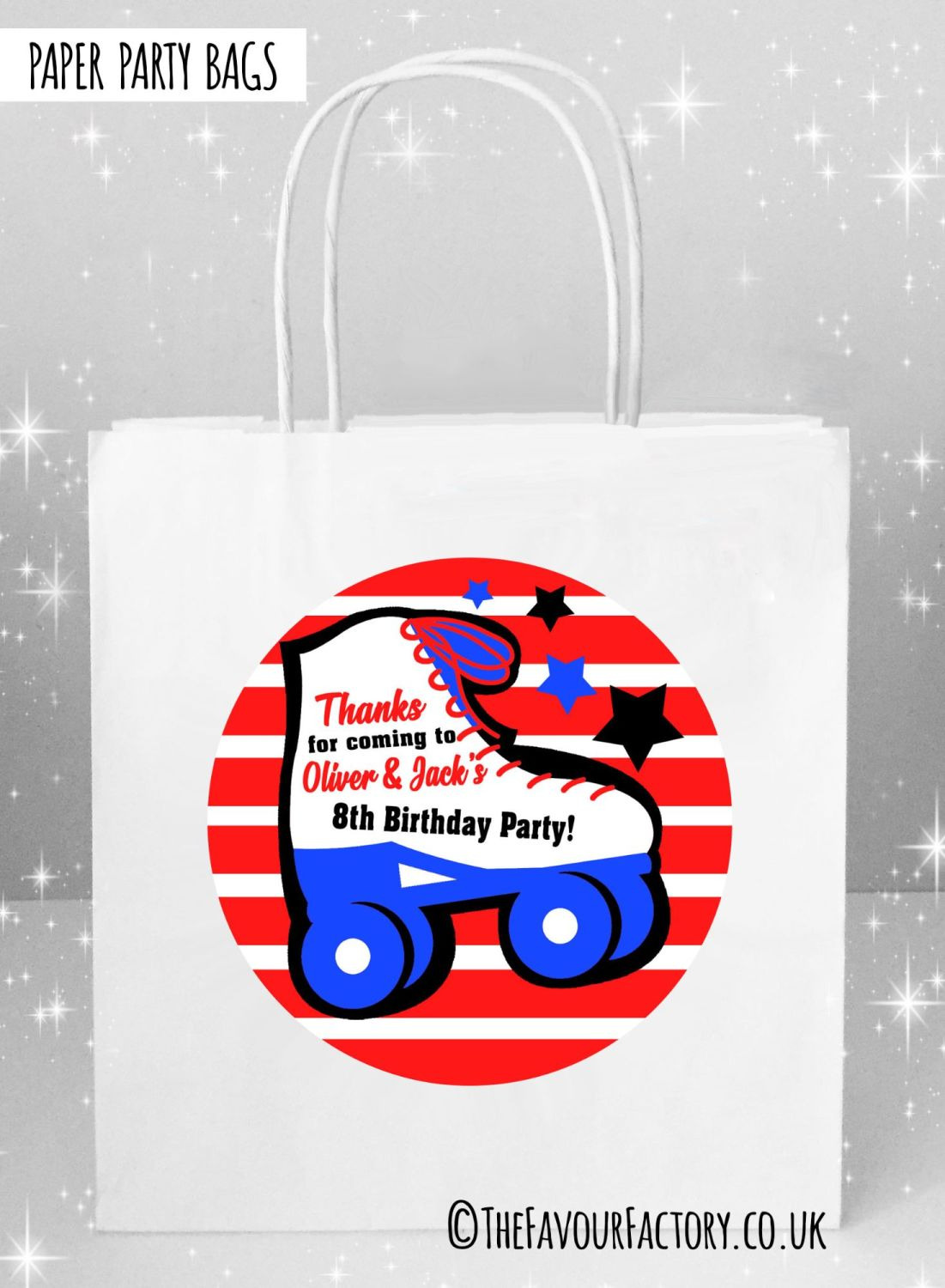 Kids Party Bags Boys Roller Skating x5