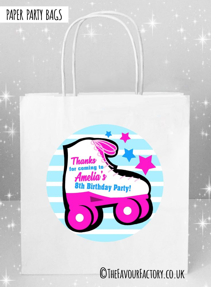 Kids Party Bags Roller Skating Girls x1