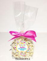 Kids Party Popcorn Treat Bags Kits Hearts and Rainbows x12