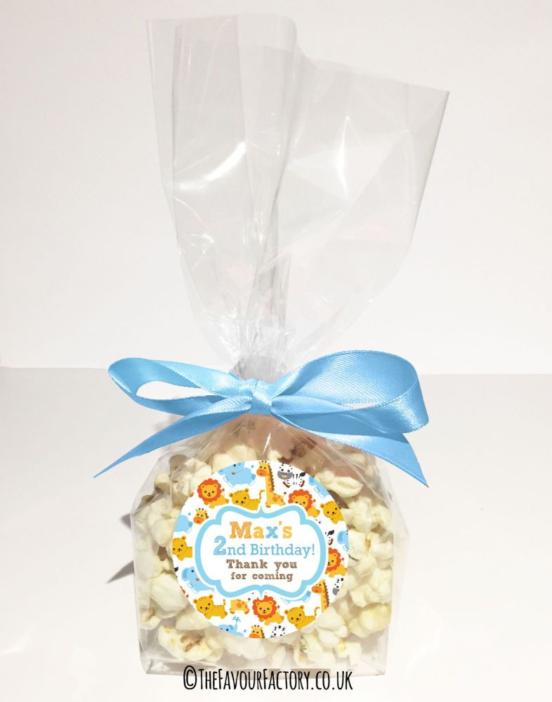 Kids Party Popcorn Treat Bags Kits  x12