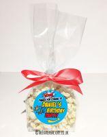 Kids Party Popcorn Treat Bags Kits Boom Superhero x12