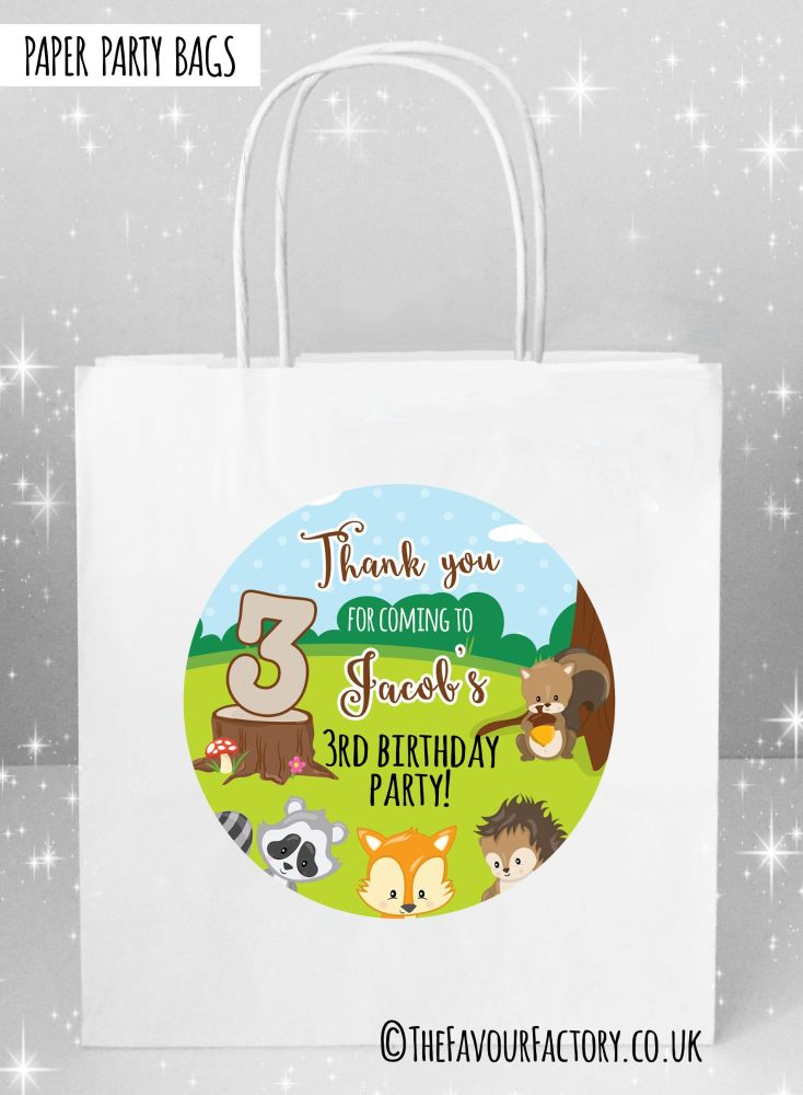 Kids Party Bags Woodland Animals x1