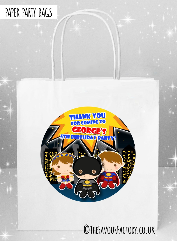 Kids Party Bags Superheroes x5