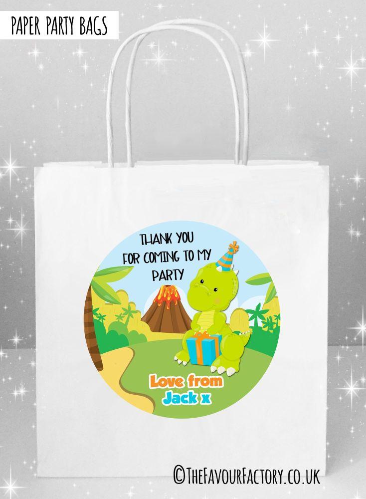 Kids Party Bags Party Dinosuar x1