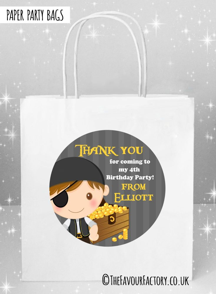Kids Party Bags Pirate with Treasure x1
