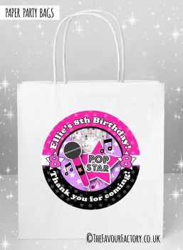 Kids Party Bags Girls Disco x5