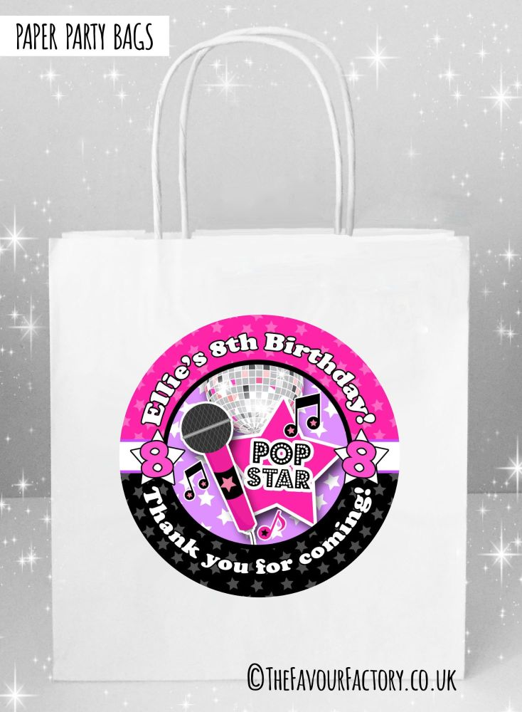 Kids Party Bags Girls Disco x1