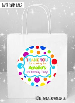 Kids Party Bags Rainbow Circles x5