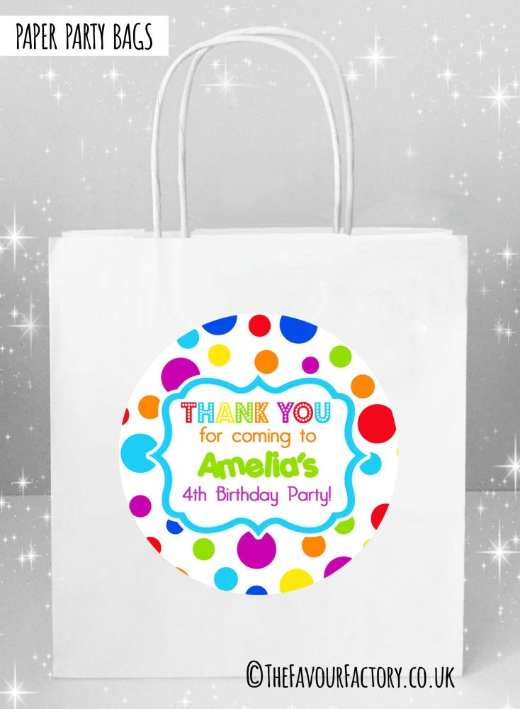 Kids Party Bags Rainbow Circles x1