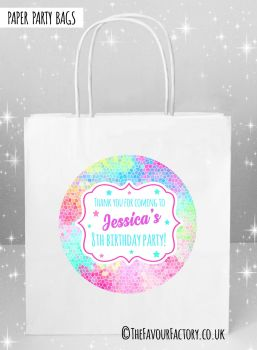 Kids Party Bags Rainbow Mosaic x5