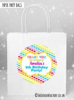 Kids Party Bags Rainbow Polka Dot Hearts x1
