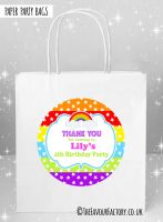Kids Party Bags Rainbow Stars and Stripes  x1