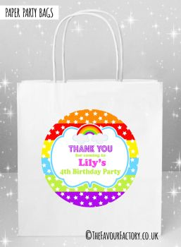Kids Party Bags Rainbow Stars and Stripes  x5