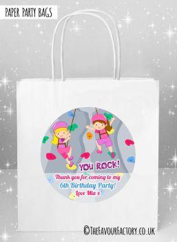 Kids Party Bags Girls Rock Wall Climbing x1