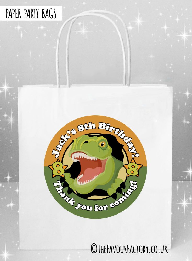 Kids Party Bags Scary Dinosaur x1