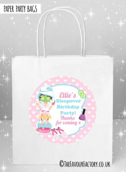Kids Party Bags Pamper Spa Sleepover x5