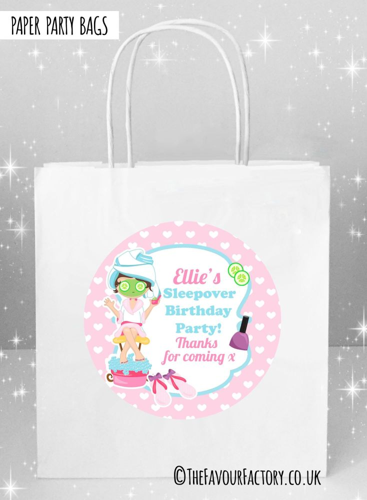 Kids Party Bags Pamper Spa Sleepover x1