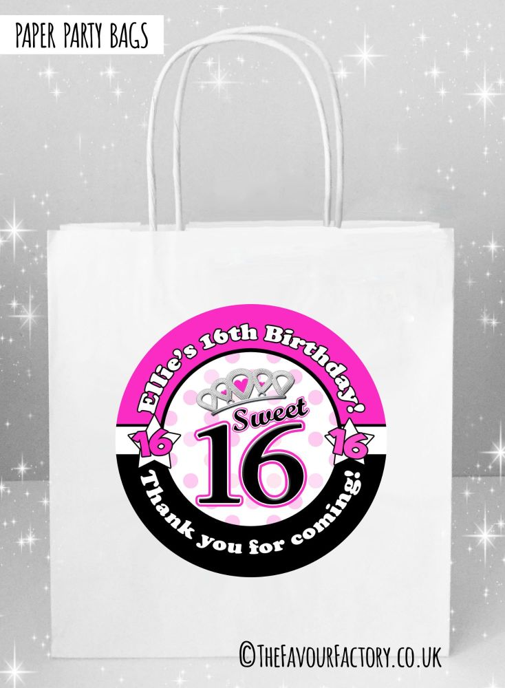 Kids Party Bags Sweet Sixteen x1