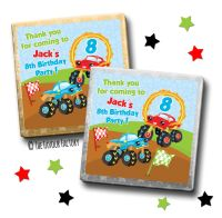 Kids Party Chocolates Favours Monster Trucks x10