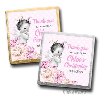 Christening Chocolates Favours Vintage Baby Girl x10