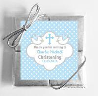 Christening Chocolates Quads Blue Doves x1