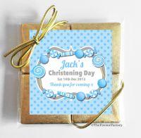 Christening Chocolates Quads Blue Sweets x1