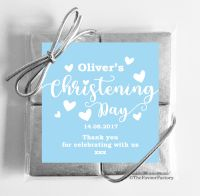 Christening Chocolates Quads Favours Love Hearts Blue x1