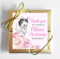Christening Chocolates Quads Favours Vintage Baby Girl x5