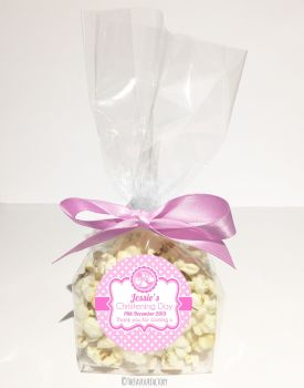 Christening Favour Bags Luxury Kits Booties Pink x12