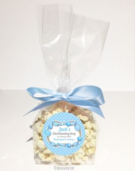 Christening Favour Bags Luxury Kits Candy Sweets Blue x12