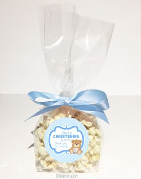 Christening Favour Bags Luxury Kits Teddy Bear Blue x12