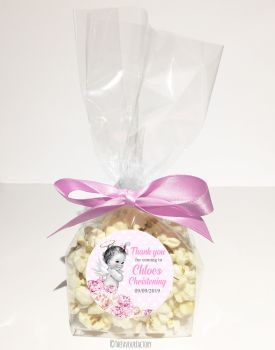 Christening Favour Bags Luxury Kits Vintage Baby Girl x12