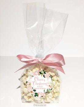 Christening Favour Bags Luxury Kits Blush Floral Hydrangeas x12
