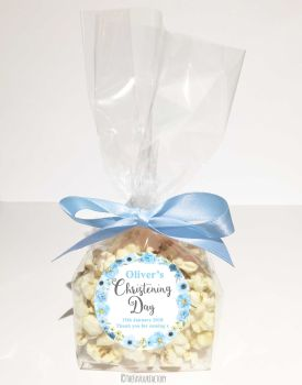 Christening Favour Bags Luxury Kits Jessica Floral Blue x12
