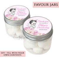 Christening Favour Jars Personalised Vintage Baby Girl