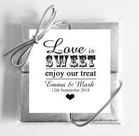 Love Is Sweet Wedding Chocolates Favours Quads x1