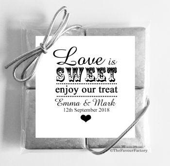 Wedding Chocolates Favours Quads Love is Sweet x1